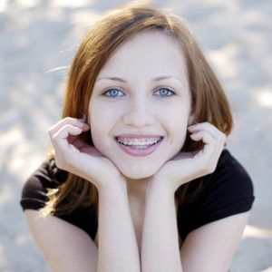 Teenager braces